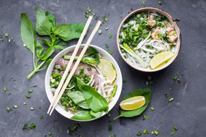 Vietnamese soups pho